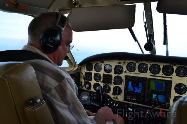 Beechcraft Queen Air (65) (C-FBOY) - On our way to Oshkosh
