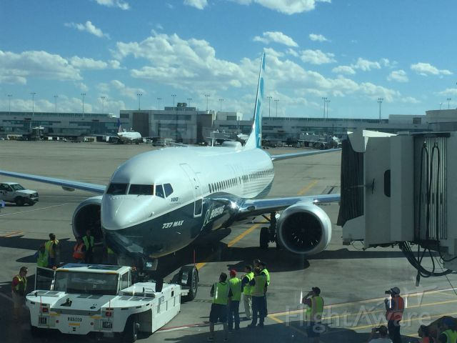 N8704Q — - 9/23/2016 Denver International Airport - Boeing and Southwest performing route proof testing of 737-Max8