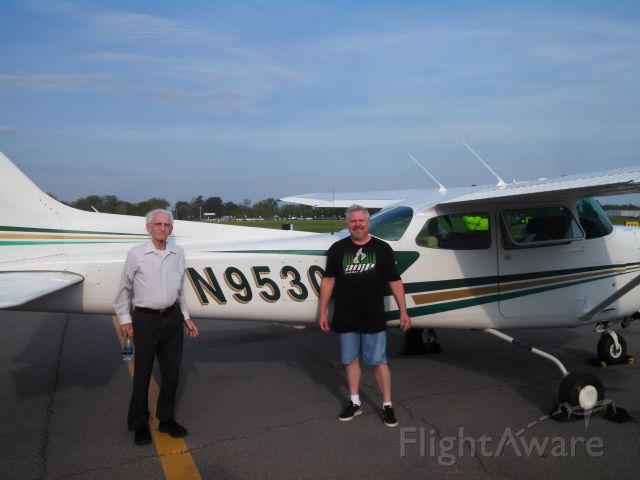 Cessna Cutlass RG (NGF1691) - Angel Flight patient Charles with his son Rick after flight from Buffalo to Albany.