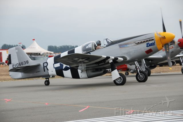 N5087F — - One of two Mustangs visiting the Abbottsford Airshow. Aug 7/09  Reg on aircraft is NX5087F