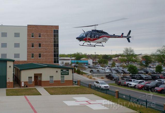 Bell JetRanger (N54AE) - Landing at Shannon in San Angelo, Texas.