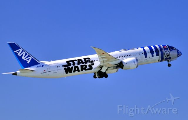 Boeing 787-9 Dreamliner (JA873A) - Star Wars livery, now I have all...
