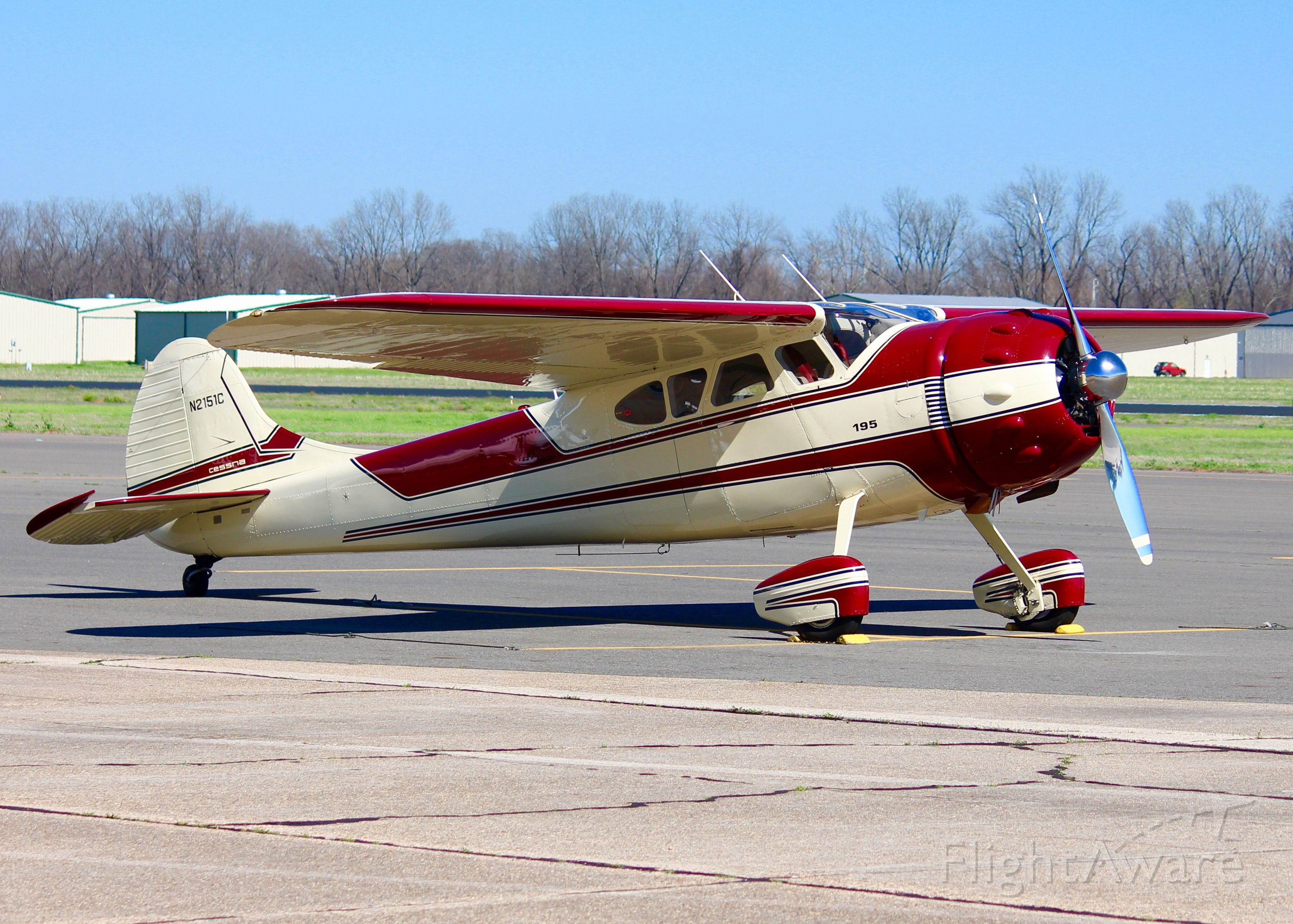 Cessna LC-126 (N2151C) - At Downtown Shreveport. 1954 Cessna 195B Businessliner. What a cherry!