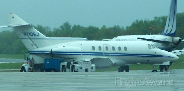 Raytheon Hawker 800 (N110EJ) - Parked at Landmark Aviation FBO, White Plains Airport (KHPN)