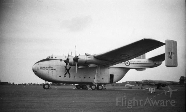 — — - 57Blackburn Beverley at Aldergrove Northern Ireland 1967.