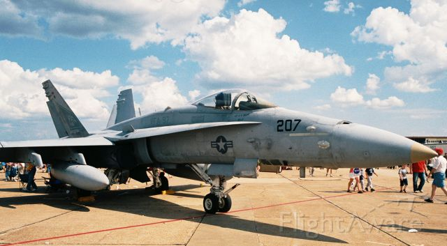 McDonnell Douglas FA-18 Hornet — - Navy F/A-18C of VFA-97 at Barksdale AFB Airshow in 2005.
