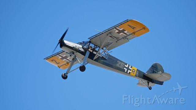 FIESELER Storch (N436FS) - FHCs Fieseler F1-156-C2 Storch (Ser#4362) flying at SkyFair 7.22.17.