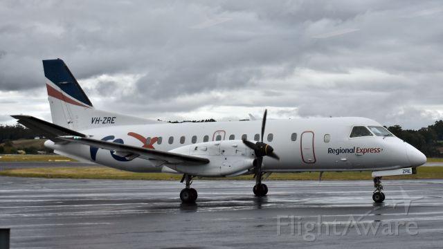 Saab 340 (VH-ZRE) - Regional Express SAAB 340B VH-ZRE (msn 391) at Wynyard Airport Tasmania, 5 March 2020.