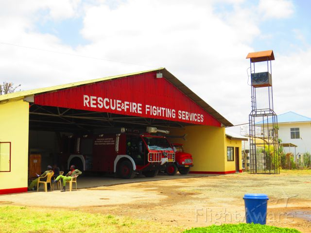 — — - Fire Hall at Arusha airport