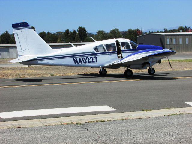 Piper Apache (N40227) - Taxiing at Fullerton