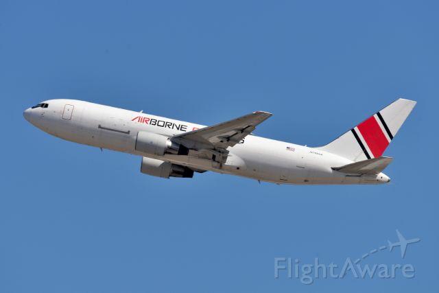 BOEING 767-200 (N768AX) - Retrojet. Beautiful. 36-R 03-21-21 from Doubletree hotel parking lot.