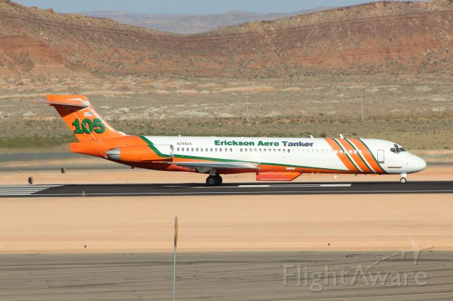 McDonnell Douglas MD-87 (N295EA) - Rare Maddog appearance in SGU to fight the Mangum fire north of the Grand Canyon - 06/21/2020