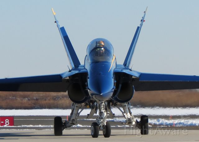 McDonnell Douglas FA-18 Hornet — - BA-7 at PHL for the Army-Navy game