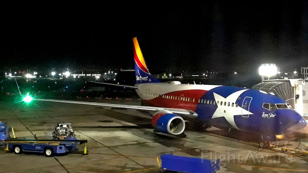 """Boeing 737-700 — - """"Lone Star 1"""" loaded and ready for push back for trip to Austin,Texas from KDAL."""