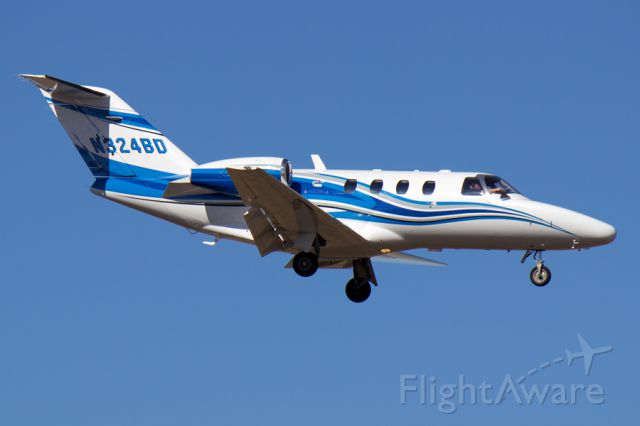 Cessna Citation CJ1 (N324BD) - Short final for 5R at KYIP.  Gorgeous, perfectly clear spring afternoon.