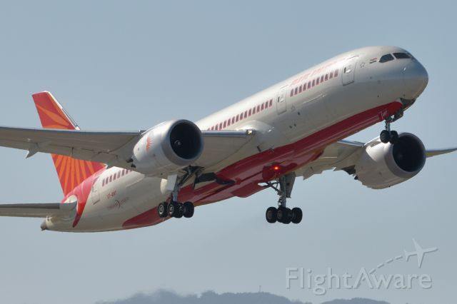 Boeing 787-8 (VT-ANY) - Adelaide, South Australia, Wednesday August 5, 2020 - Air India Flt 1320 departing off runway 23 for Melbourne then New Delhi.