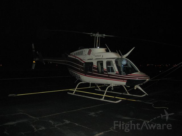 N206GH — - BELL 206 OVERNIGHT STAY ON THE RAMP @ NATCHITOCHES, LA