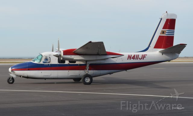 Aero Commander 500 (N411JF) - N411JF seen beginning departure from KBKL. Please look for more photos at Opshots.net
