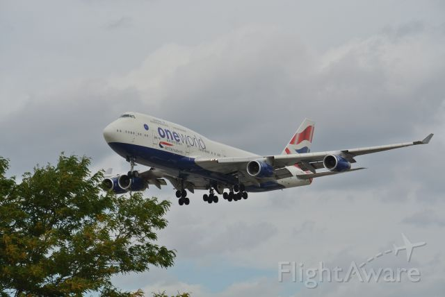 Boeing 747-400 (G-CIVK) - Standing on the side of Airport Rd