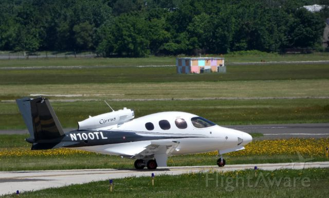 Cirrus Vision SF50 (N100TL) - Taxiing to the active runway is this 2018 Cirrus Vision SF50 in the Spring of 2019.