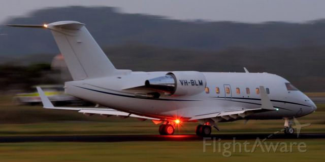 Canadair Challenger (VH-BLM) - 8th October 2014<br />Early morning before sunrise