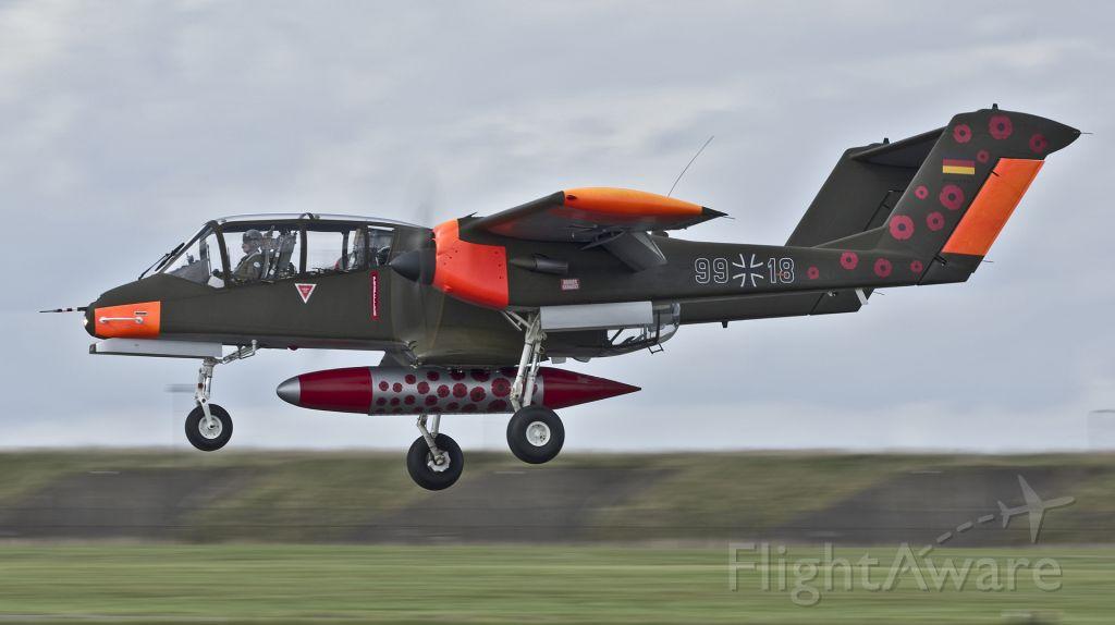 North American Rockwell OV-10 Bronco (9918) - North Rockwell Demo Teams OV-10 Bronco -RAF Scampton - 8th September 2017