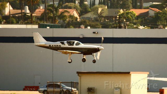 STODDARD-HAMILTON Glasair (N43PB) - Landing at TOA.