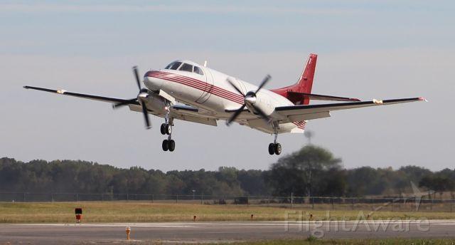 Fairchild Dornier SA-227DC Metro (N681TR) - A Fairchild SA-227AC Metro III approaching touchdown on Runway 36 at Pryor Regional Airport, Decatur, AL - October 24, 2018.