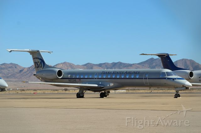 Embraer ERJ-145 (N832HK) - 11/28/2020 - This A/C has been stored in Kingman since 2020