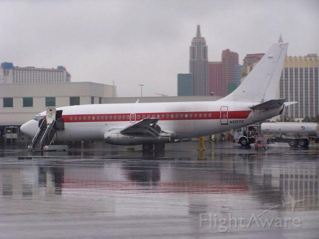 Boeing 737-200 (N5177C) - EG&G Tonopah Test shuttle on the ramp at their terminal in Las Vegas.