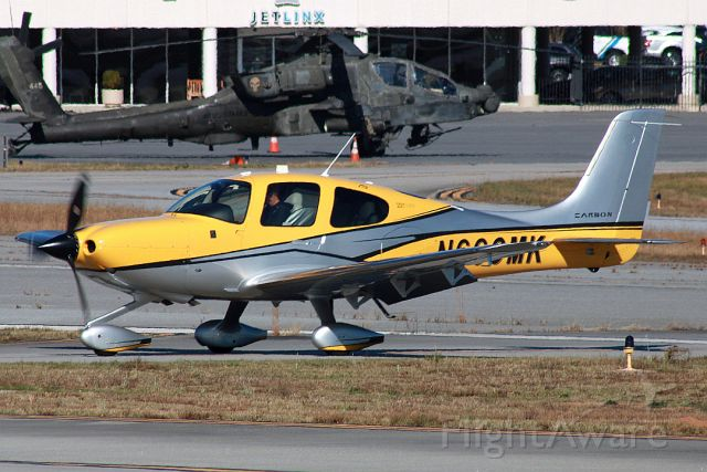 Cirrus SR22 Turbo (N660MK) - Taxiing in front of an Apache after an out-and-back flight. Photo taken on 11/18/2020.