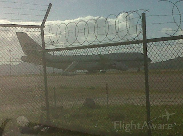 — — - A bird in a cage The aircraft a 747 bearing the marks of Kingdom Holdings a company owned by HRH Prine Alwaleed of Saudi Arabia sits after a few days under the tropical sun.  Another aircraft not pictured belonging to the same company, an Airbus, as well accompanies the Prince