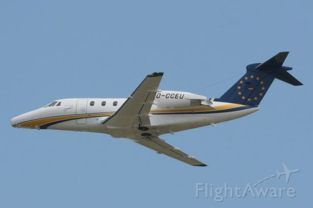 """Cessna Citation III (D-CCEU) - Departing from Cologne, 4 May 2011.  Air Traffic callsign is """"Snoopy""""."""