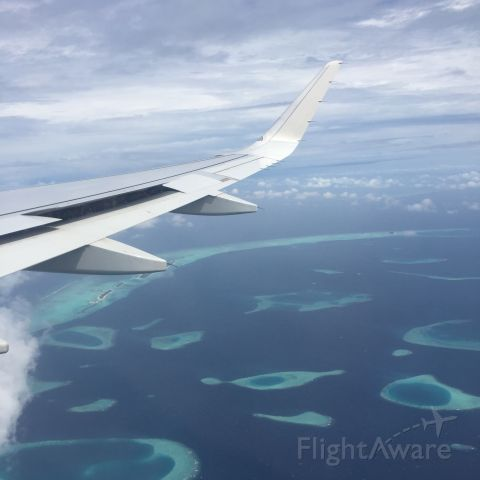 Airbus A320 — - Approach at Maldives (A320-232 with Sharklets)