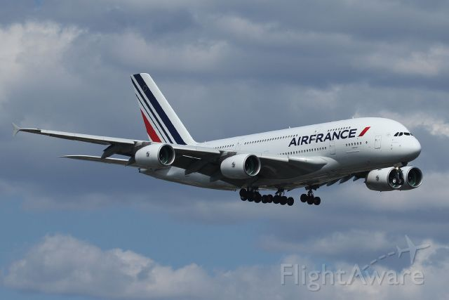 Airbus A380-800 — - On final to 22L