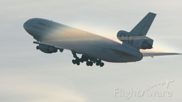 McDonnell Douglas DC-10 (N720AX) - Gear up after rotation Kuwait bound