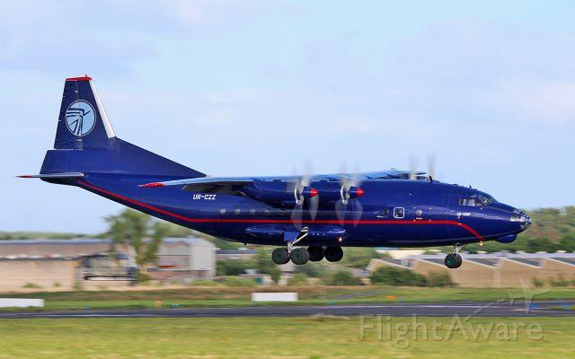 Antonov An-12 (UR-CZZ) - ukraine air alliance an-12bp ur-czz about to land at shannon 17/5/17.