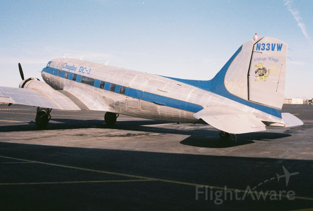 Douglas DC-3 (N33VW) - This C-47 was built as a Douglas C-47A-90-DL Skytrain, USAAF s/n 43-15935, msn 20401. It was declared surplus in 1946 according to Joe Baugher