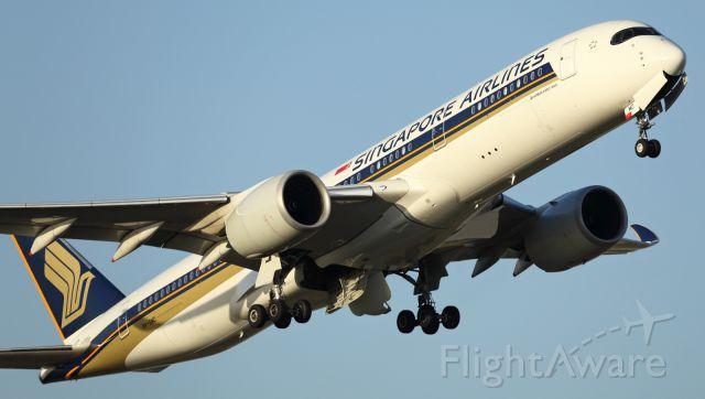 — — - SIA, A359 departs runway 16 at YMML.