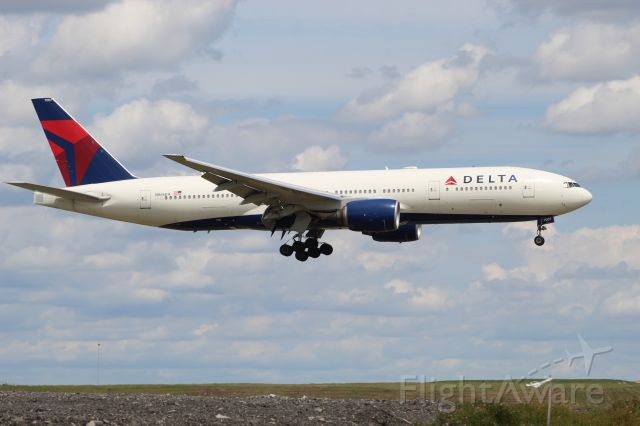 Boeing 777-200 (N866DA) - DAL3341 arriving from Frankfurt on 7/31/20. Landing on 10C