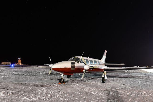 Piper Navajo (C-FBHO) - Piper Navajo parked at the Swan Aero Hanger in Grande Prairie, AB