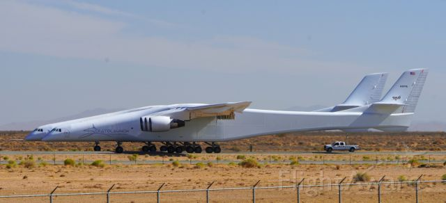 Eurocopter AS-350 AStar (N351SL) - Stratolaunch undergoing taxi testing