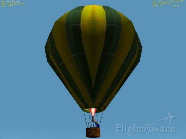 Unknown/Generic Balloon (SIMULATOR) - ORBITER Flight Simulator, Hot Air Balloon.