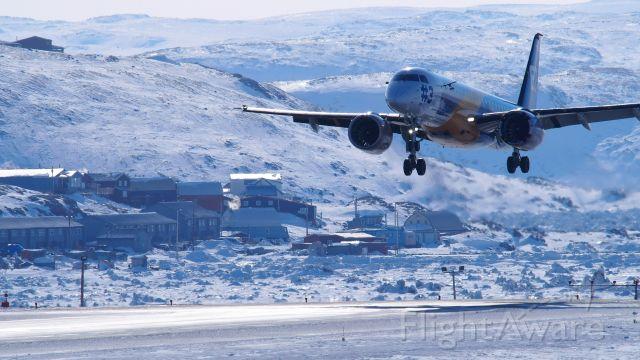 Embraer ERJ-190 (PR-ZFV) - Cold weather testing in Iqaluit, April 2017.  Embraer S.A., ERJ-190-E2, prototype #3