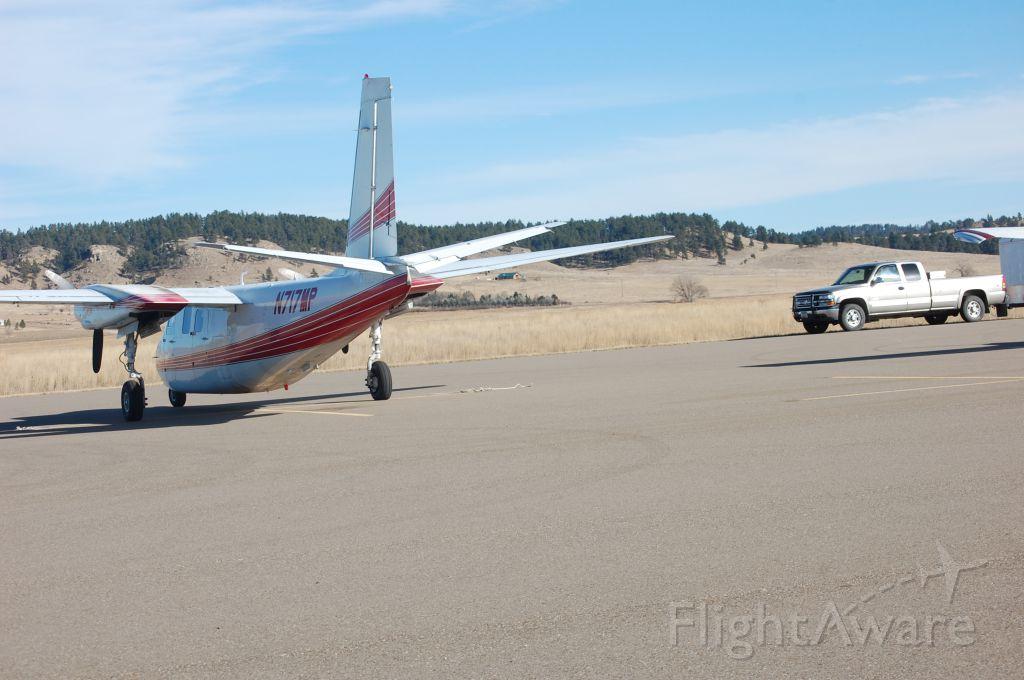 N717MP — - Aero Commander 500 on the ramp at Ekalaka after landing