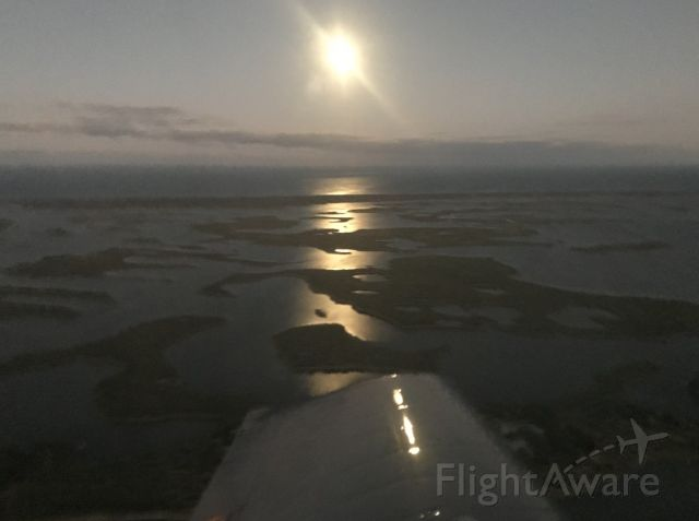 — — - Picture of the super full moon rising this evening over New Smyrna Beach FL from our RV-10.  1/20/19