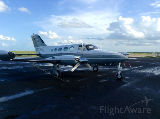 Cessna Chancellor (N777RP) - On the ramp at Glades airport, FL