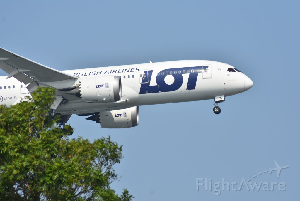 Boeing 787-8 (SP-LRD) - Arrival, Polish Airlines, RWY 20R, Changi, Singapore. 8 Sep 2019