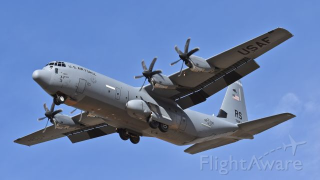 """Lockheed C-130 Hercules (07-8613) - USAF Lockheed Martin C-130J-30 """"Super Hercules,"""" assigned to the 86th Airlift Wing, on final for RWY 17L at Colorado Springs Airport"""