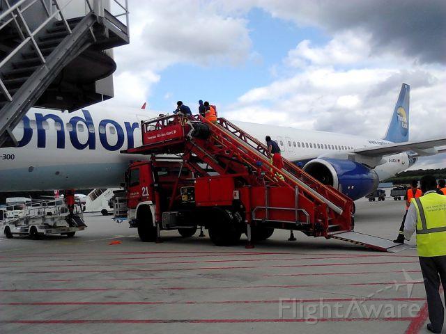 Boeing 757-200 (D-ABOK) - medical emergency